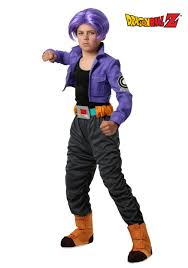 kids halloween clothes dragon ball z trunks costume for kids