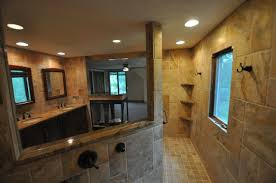 bathroom rustic style bathroom design with stone wall and white