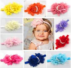 kids hair accessories 2013 new pearl children kids hair jewelry headband chiffon