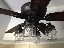 Mason Jar Ceiling Fan Light Kit Of Vintage Pint Jars Fan Light