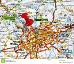 Madrid Map Madrid Stock Photo Image 54333880