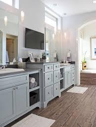 kitchen blue grey painted cabinets redtinku