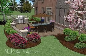 Backyard Outdoor Living Ideas Garden Design Garden Design With Custom Patio Design Outdoor