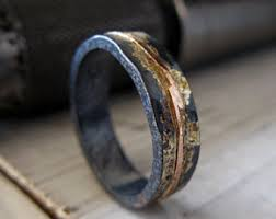 rustic mens wedding bands mens wedding ring etsy