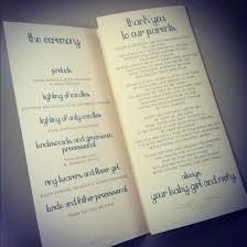 what to put on wedding programs program