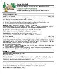 Camp Counselor Resume Sample by Summer Camp U003ca Href U003d