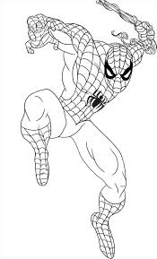 wonderful spiderman coloring sheets coloring pages free