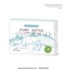 vector concept packaging design dairy butter stock vector