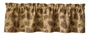 Cabin Valances Pine Cone Curtains Everything Log Homes
