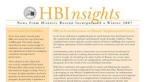 historic boston inc hbi newsletters
