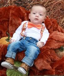baby boy thanksgiving argyle suspenders orange bow tie
