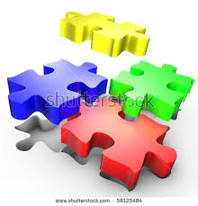 Cmyk Color Spectrum Puzzle Four Colorful Puzzles White Stock Images Royalty Free Images
