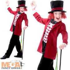 mad hatter boys fancy dress world book day week childs kids