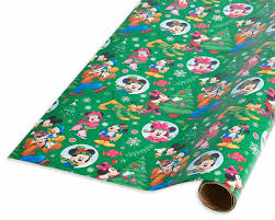 mickey mouse christmas wrapping paper mickey mouse and friends christmas wrapping paper shop american