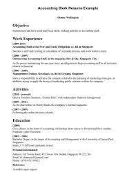 bookkeeper resume sample resume accounting clerk resume sample accounting clerk resume sample printable large size
