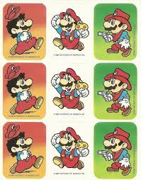 vintage 80s super mario brothers sticker sheet version 1 zoom