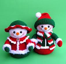 mr and mrs winters snowmen pdf crochet pattern 8 00 via etsy