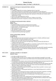 bartending resume exle server bartender resume sles velvet