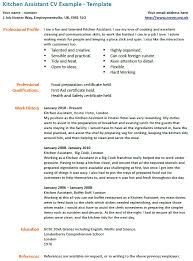 Cook Job Description For Resume by Kitchen Assistant Cv Example Icover Org Uk