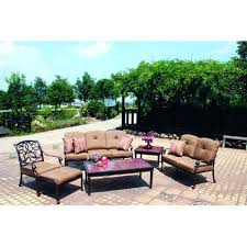 Darlee Santa Monica by Darlee Santa Monica Cast Aluminum Outdoor Patio Lounge Set With