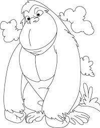 coloring page of gorilla tarzans animal parents gorilla coloring page free amp printable