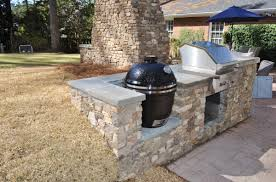 stunning new outdoor fireplace and grilling area in augusta