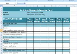 Microsoft Excel Template Get Cost Benefit Analysis Template Excel Pinteres