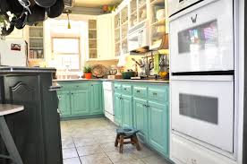 Colored Kitchen Cabinets - Turquoise kitchen cabinets