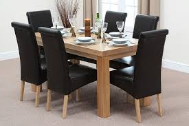 Oak Dining Table With 6 Chairs Plain Decoration Dining Table And 6 Chairs Bold Design Table