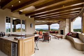 Flooring For Outdoor Patio Contemporary Patio With Exterior Stone Floors U0026 Outdoor Kitchen In