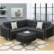 Cheap Black Sectional Sofa Black Sectionals Living Room Furniture The Home Depot