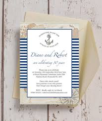 Wedding Invitations Nautical Theme - nautical themed 30th pearl wedding anniversary invitation from