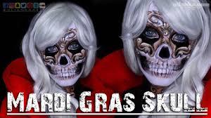 mardi gras skull mask mardi gras skull tutorial entry to the 2017 nyx awards
