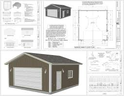 g448 24 u0027 x 20 u0027 x 8 u0027 free pdf garage plans blueprints 25 x 25