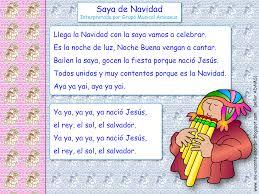 me encanta escribir en español canción saya de navidad grupo