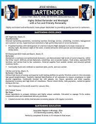 Server Resume Template Free Bartending Resume Template Bartending Resume Berathen Com