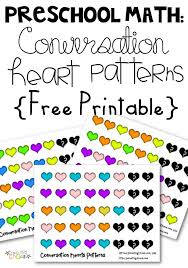free conversation hearts pattern math worksheets