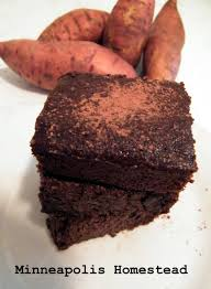 healthy sweet potato fudgy brownies gf flourless low sugar low