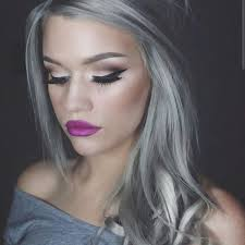 trendy grey hair granny hair trend young women are dyeing their hair gray bored
