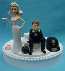 pittsburgh pirates baseball key themed wedding cake topper garter