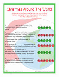 traditions around the world worksheet education
