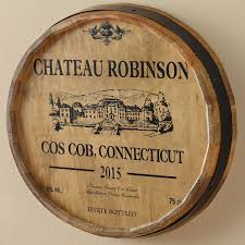signs wall decor home decor housewares wine enthusiast personalized chateau barrel head sign