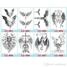 devil hole cool feather wings tattoo designs temporary tattoos man