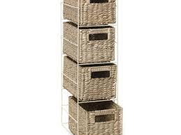 Storage Cabinet With Baskets Bathroom Wicker Bathroom Storage Wicker Bathroom Storage