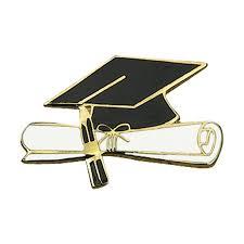 graduation diploma graduation award pin cap and diploma s