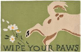 Wipe Your Paws Rubber Backed Trans Ocean Frontporch 1522 06 Wipe Your Paws Green Area Rug