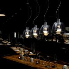 bright clear glass shade rectangular canopy designer multi light