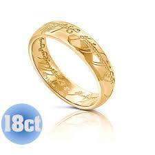 lord of the rings wedding band 18k lotr gold one ring wedding band the one ring the one ring