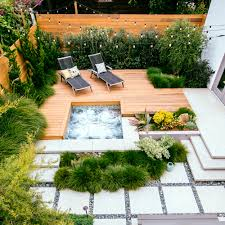 Landscaping Ideas For A Sloped Backyard by Great Deck Ideas Sunset