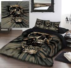 Playboy Duvet Covers Skull Rip Thru Duvet Cover Set By David Penfound Bedding Duvet